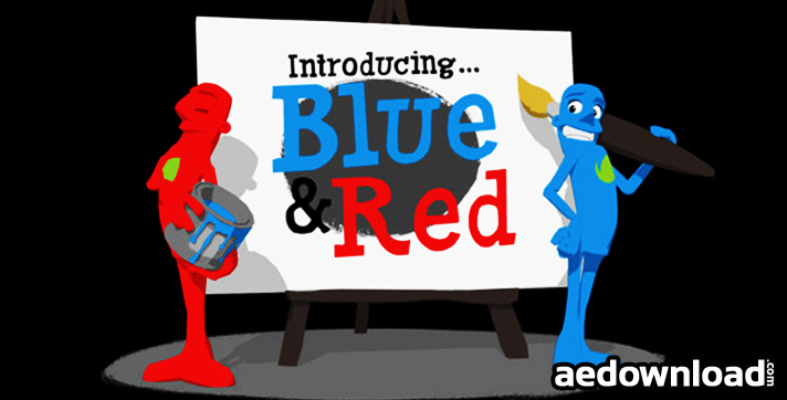 Paint Promo Featuring Blue & Red