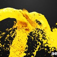 PAINT SPLASH LOGO REVEAL – AFTER EFFECTS PROJECT (VIDEOHIVE)
