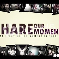 SHARE THE MOMENTS – AFTER EFFECTS TEMPLATE (POND5)
