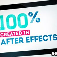 SIMPLE TABLET – AFTER EFFECTS PROJECT (VIDEOHIVE)