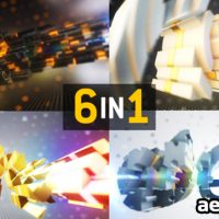 SLICED LOGO TEXT ELEMENT 3D REVEAL (VIDEOHIVE)