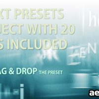 TEXT PRESETS – 20 TEXT ANIMATION PRESETS (VIDEOHIVE)