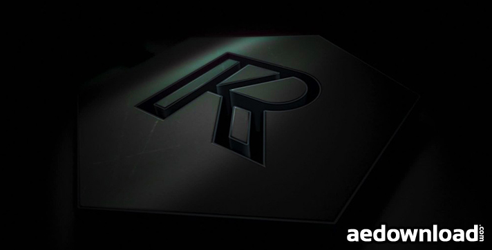 titanium 3d logo reveal after effects project
