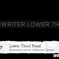 TYPEWRITER LOWER THIRDS – PROJECT FOR AFTER EFFECTS (VIDEOHIVE)