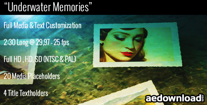 UNDERWATER MEMORIES SLIDESHOW - AFTER EFFECTS PROJECT
