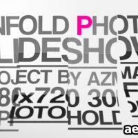 UNFOLD PHOTO SLIDESHOW – PROJECT FOR AFTER EFFECTS (VIDEOHIVE)