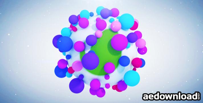 Vibrant Particles Logo Reveal