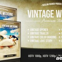 VINTAGE WEDDING PACKAGE – AFTER EFFECTS PROJECT (VIDEOHIVE)