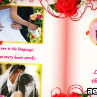 WEDDING ALBUM RED ROSES – AFTER EFFECTS PROJECT (VIDEOHIVE)