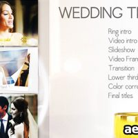 WEDDING MEGA PACK – PROJECT FOR AFTER EFFECTS (VIDEOHIVE)