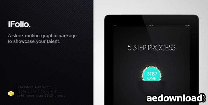 IFOLIO: PORTFOLIO - AFTER EFFECTS TEMPLATE PROJECT (VIDEOHIVE ...