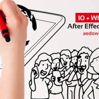 10 + Whiteboard After Effects Templates