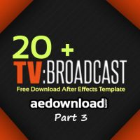 20 + Broadcast Package After Effects Templates Part 3