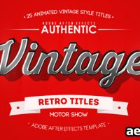 25 ANIMATED VINTAGE TITLES FREE DOWNLOAD – VIDEOHIVE