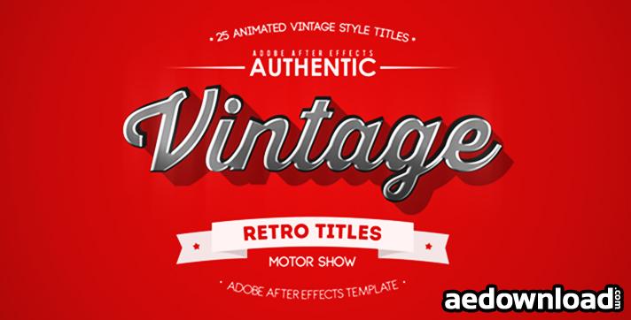 25 Animated Vintage Titles