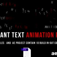 ANIMATED TEXT – AFTER EFFECTS PRESETS (VIDEOHIVE)