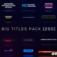 BIG TITLES PACK [250] FREE DOWNLOAD – VIDEOHIVE