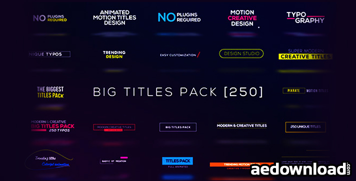 Big Titles Pack [250]