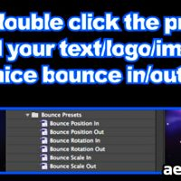 BOUNCE PRESETS – AFTER EFFECTS PROJECT (FREE PLUGINS & PRESETS)