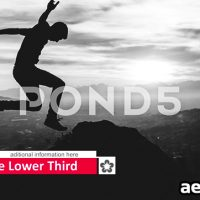 CLEAN LINE LOWER THIRD – AFTER EFFECTS TEMPLATE (POND5)