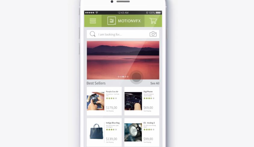 MYAPP IOS UI KIT PROMO - AFTER EFFECTS TEMPLATE (MOTIONVFX)