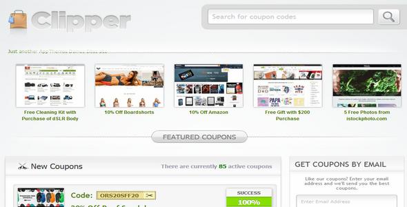 Clipper v1.6.2 A powerful Coupon Theme WordPress – AppThemes Free ...