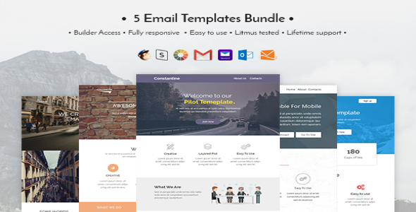 Email Templates Bundle Creativemarket Free Download - Litmus free email templates