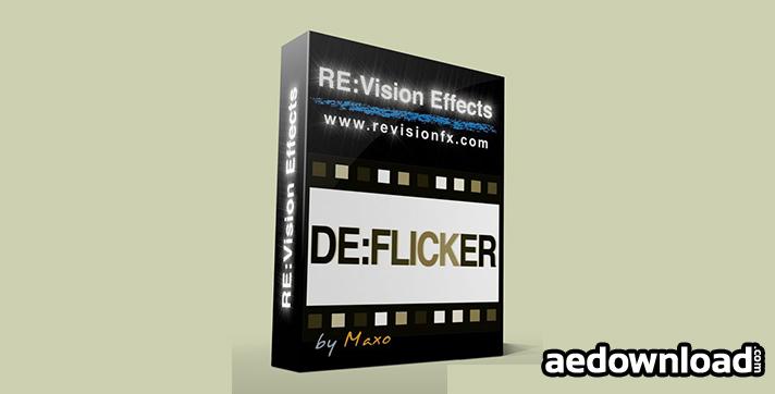 DE:FLICKER V1 1 1 FOR AFTER EFFECTS (REVISIONFX) (FREE PLUGINS