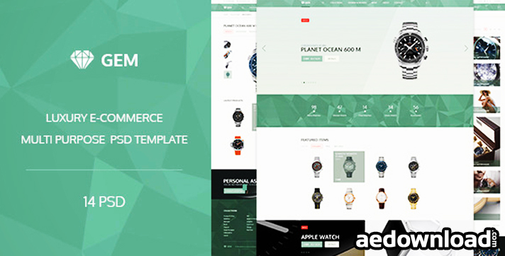 Ecommerce Psd Templates Free Download   Gem Luxury E Commerce Psd Theme Free Download Free After Effects