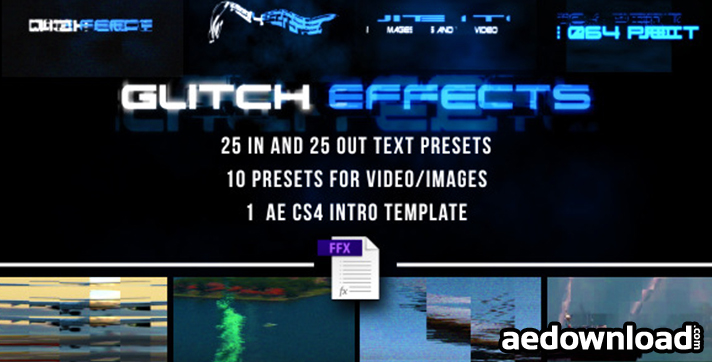 GLITCH PRESETS FOR TEXT AND VIDEO (FREE PLUGINS & PRESETS