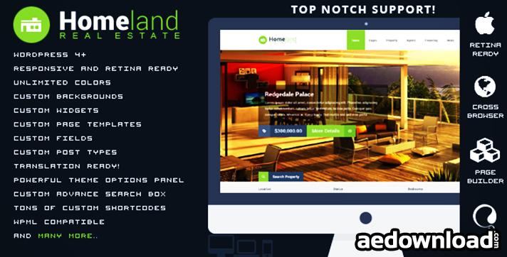 Homeland - Responsive Real Estate WordPress Theme