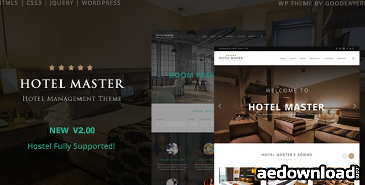 Hotel Master v2.06 – Hotel & Hostel Booking WordPress Theme