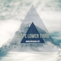 VIDEOHIVE SHAPE LOWER THIRD – AFTER EFFECTS TEMPLATES