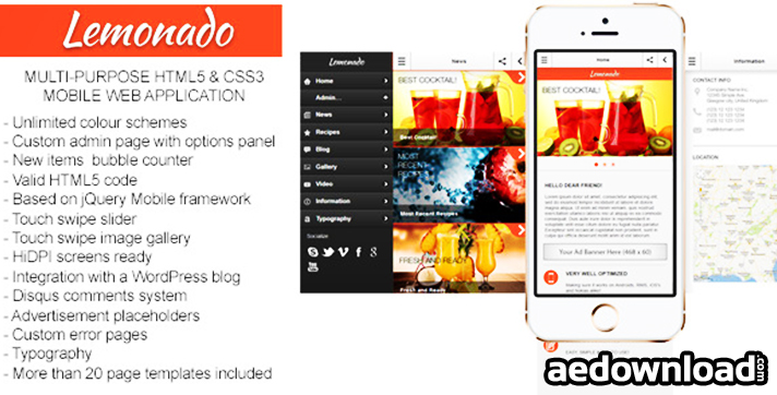 Lemonado v1.3.1 – Multi-purpose Mobile Web Application