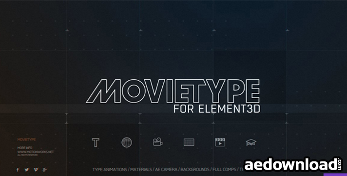 MOTIONWORK - MOVIETYPE FOR ELEMENT 3D (WIN MAC)