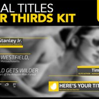VIDEOHIVE MINIMAL TITLES LOWER THIRDS KIT – AFTER EFFECTS TEMPLATES