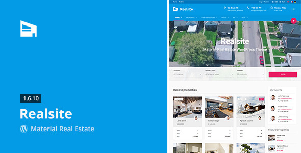 Realsite v1.7.1 – Material Real Estate WordPress Theme Free Download ...
