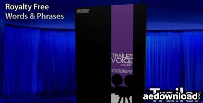 SONOKINETIC - TRAILER VOICE 1 - THE BIGGEST VOICE OVER SPEECH - Free