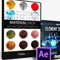 THE PIXEL LAB MATERIAL PACK FOR ELEMENT 3D V2