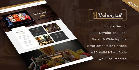 Urbanrgill V2 0 Html5 Restaurant Template Free