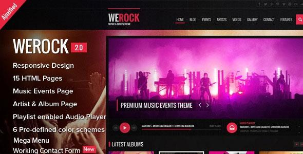 WeRock v2 0 – Ajax Music Radio Streaming & Event HTML Template Free