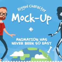 RIGMO – RIGGED CHARACTER ANIMATION MOCKUP – VIDEOHIVE
