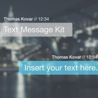 VIDEOHIVE TEXT MESSAGE KIT – AFTER EFFECTS TEMPLATES