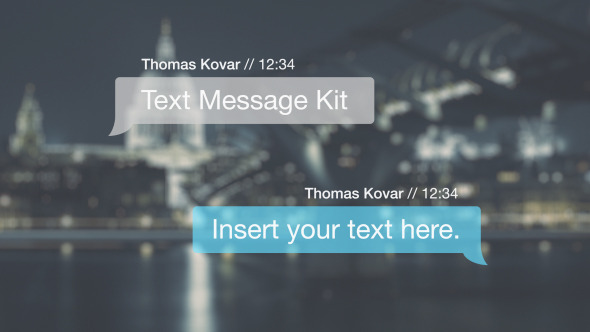 VIDEOHIVE TEXT MESSAGE KIT - AFTER EFFECTS TEMPLATES - Free After ...