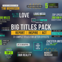 VIDEOHIVE BIG TITLES PACK – AFTER EFFECTS TEMPLATES