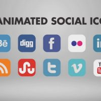 10 ANIMATED SOCIAL ICONS – AFTER EFFECTS TEMPLATE (BLUEFX)