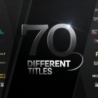 VIDEOHIVE 70 DIFFERENT TITLES – AFTER EFFECTS TEMPLATES