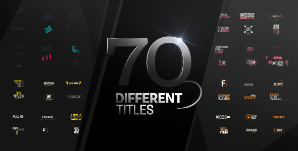 70 Different Titles