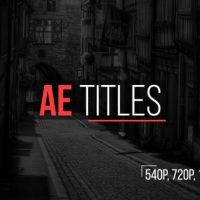 VIDEOHIVE AE TITLES – AFTER EFFECTS TEMPLATES