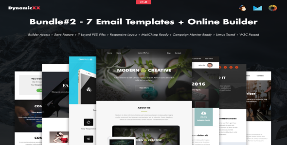 Bundle#2 – 7 Email Templates+Builder – Creativemarket Free Download ...